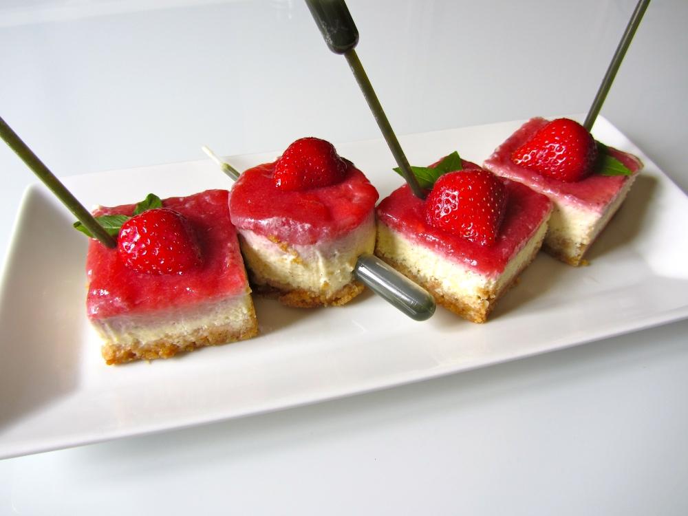 Cheesecake vanille, fraise, basilic (6/6)