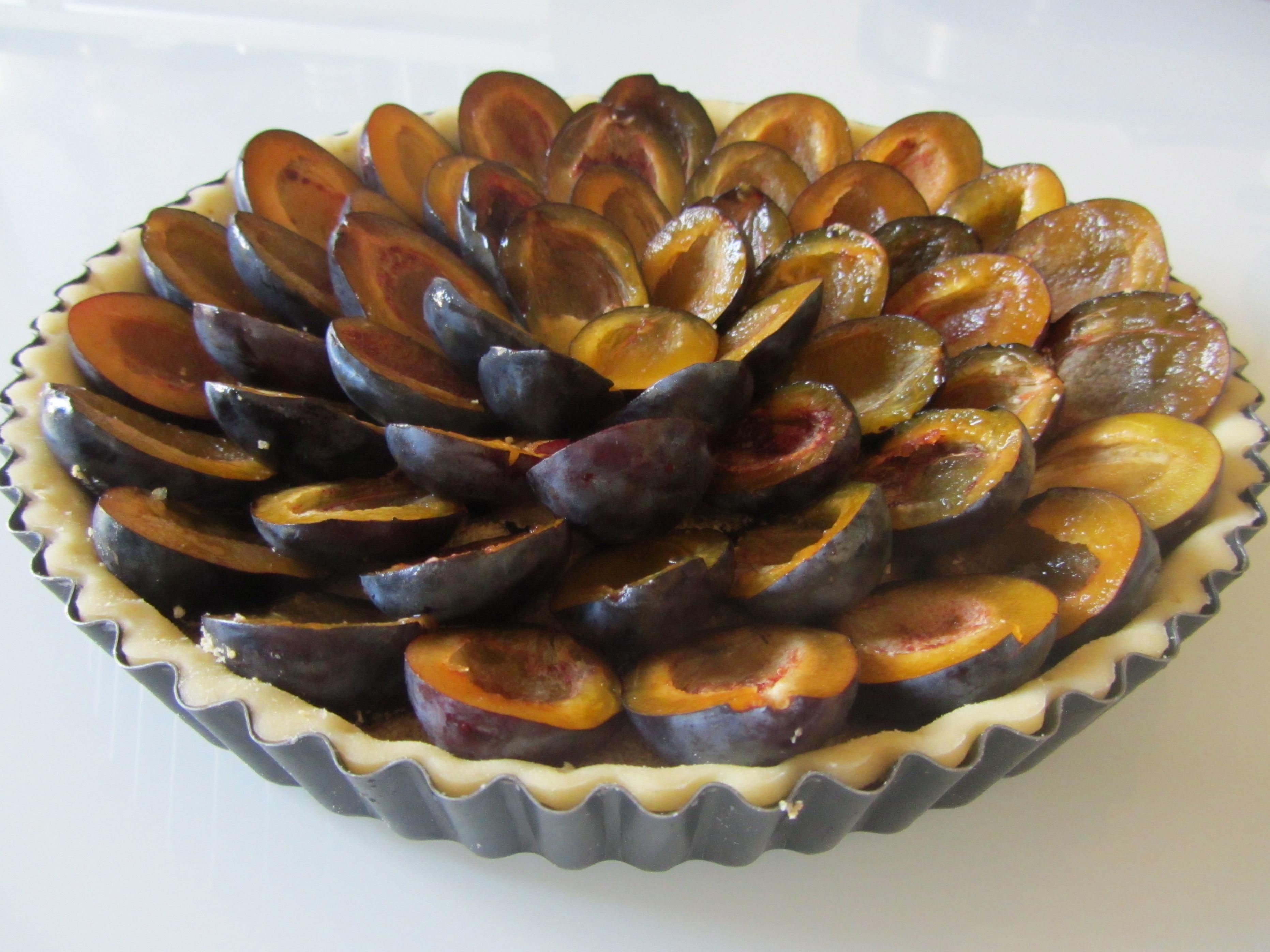 présentation tarte aux quetsches avant cuisson 2