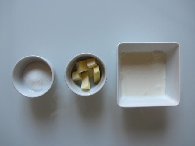 Poire, caramel ingrédients 4