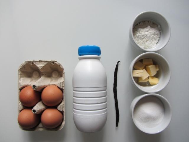 Salambos à la pistache, ingrédients crème pâtissière