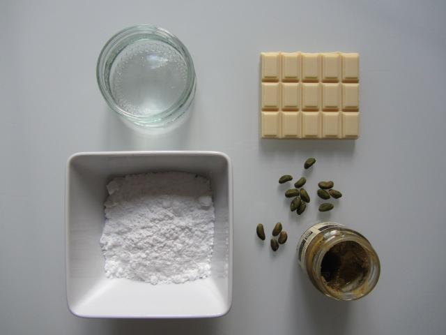 Salambos à la pistache, ingrédients fondant