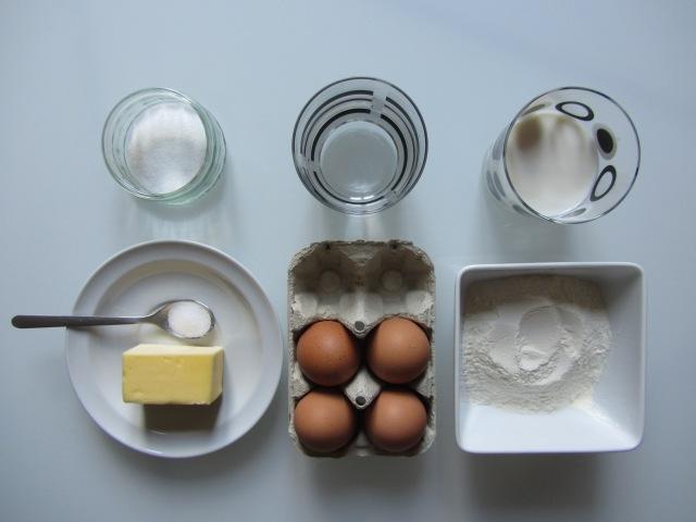 Salambos à la pistache, ingrédients pâte à choux