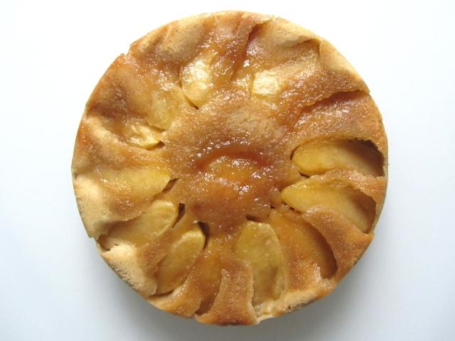 Gâteau renversé aux pommes, présentation 1