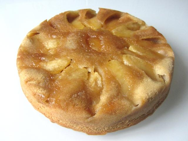 Gâteau renversé aux pommes, présentation 2