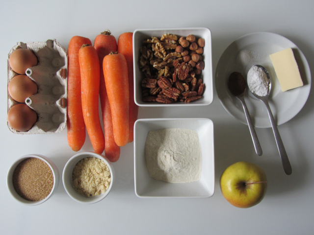 Carrott cake, ingrédients