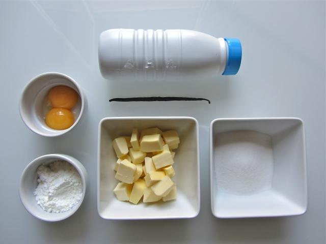 Fraisier, ingrédients crème mousseline