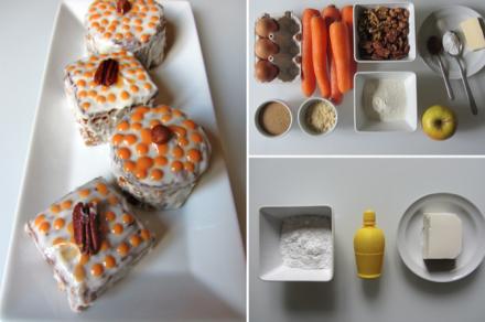 Mini carrott cakes, M 1