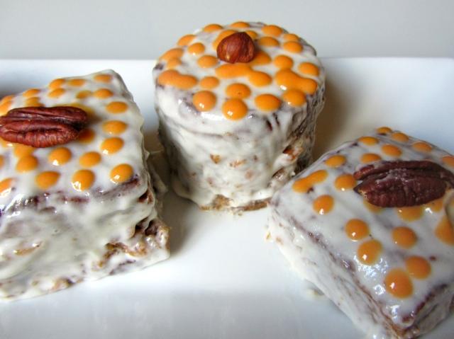Mini carrott cakes, présentation 5
