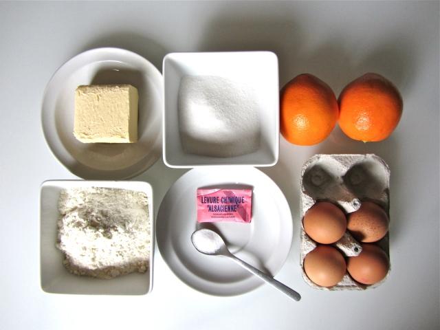 Gâteau à l'orange, ingrédients